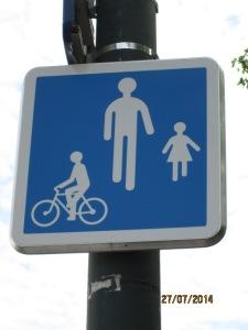 pour les vélos et les piétons