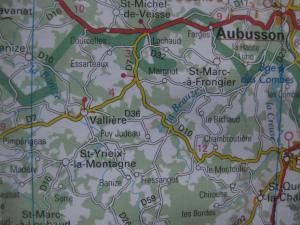 carte St-Yrieix-la-Montagne