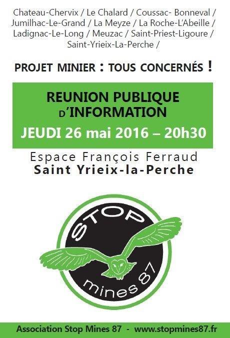 Stop Mines St Yrieix