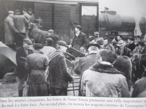 Embarquement des bestiaux années 50 St-Yrieix