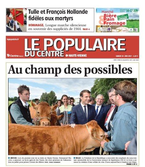 Macron et limousines