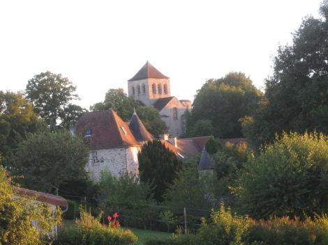 Le Chalard coucher de soleil sur l'église