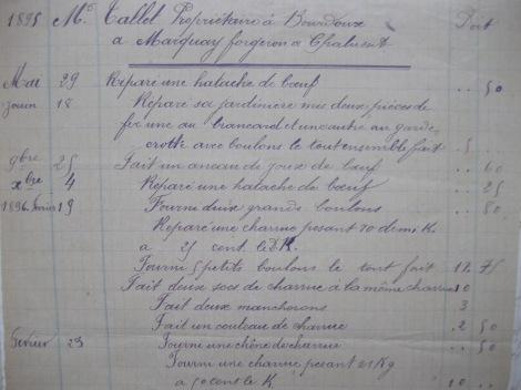 Livre de comptes 1882 3