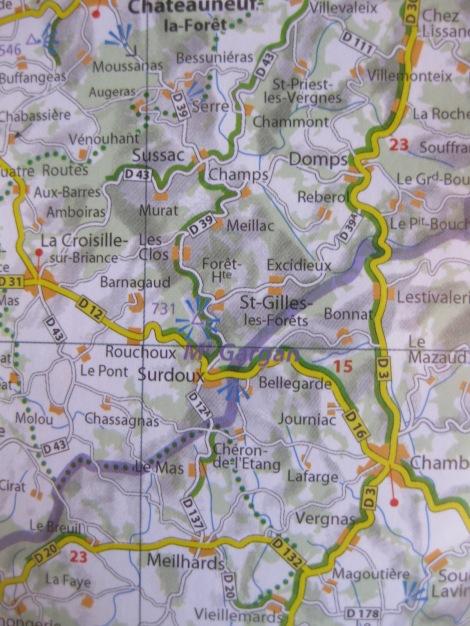 Mont Gargan carte Michelin
