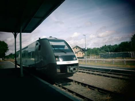 arrivée du train en gare de St-Yrieix 1